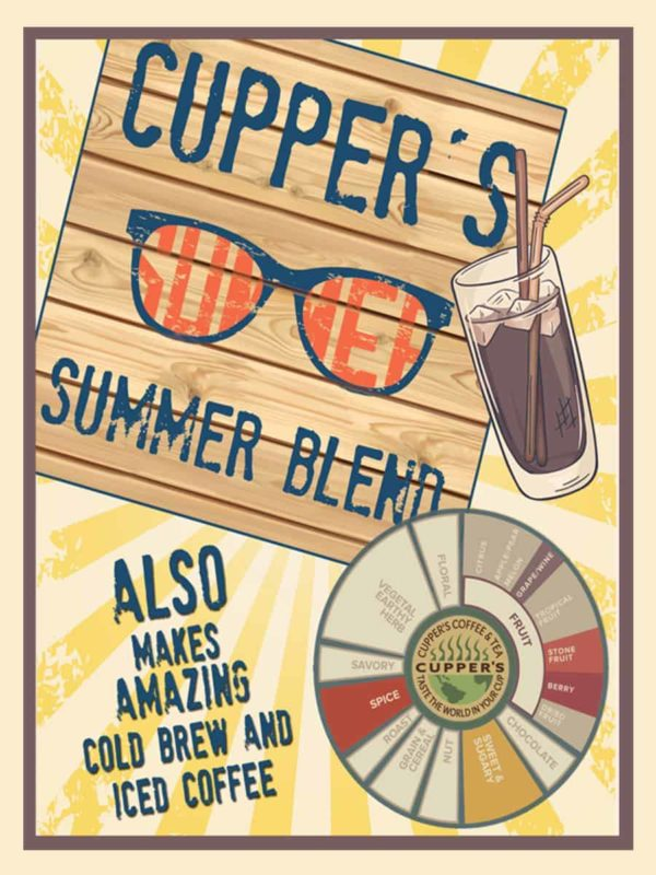 Cupper's Roasted Coffee Summer Blend Label
