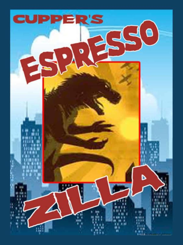 zilla dark roast espresso coffee label