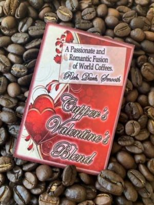 valentines day dark roast coffee beans