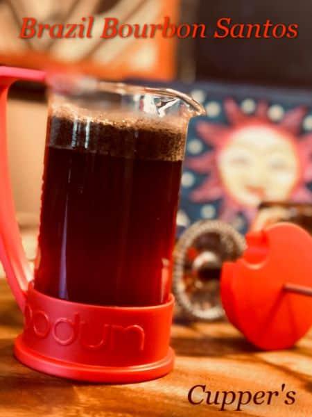brazil coffee beans bourbon santos brewed