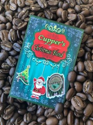 christmas blend medium roast coffee beans