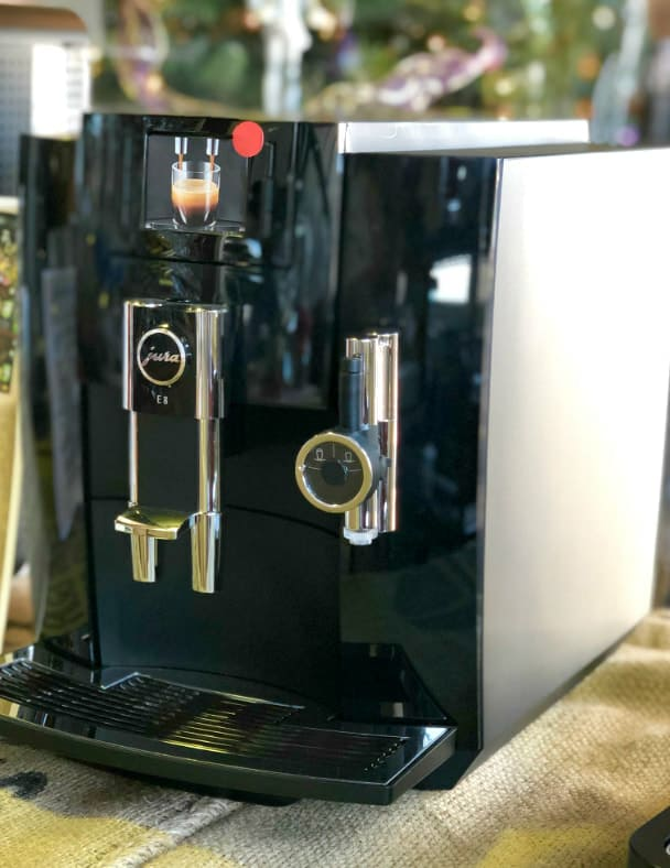 The Jura E8 Superautomatic Espresso Machine.