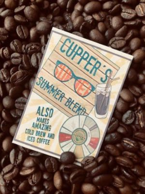 summer blend beans iced coffee