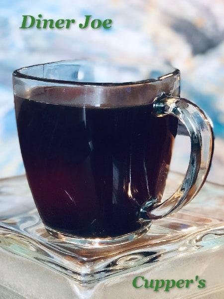 diner joe dark roast coffee brewed