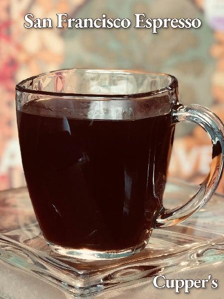 san francisco espresso coffee brewed