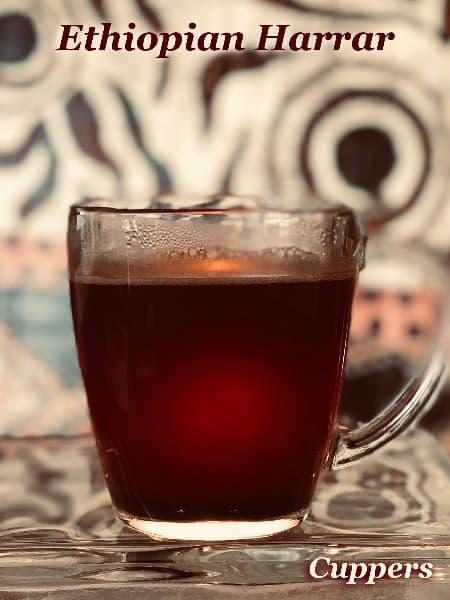 ethiopian harrar arabica coffee brewed