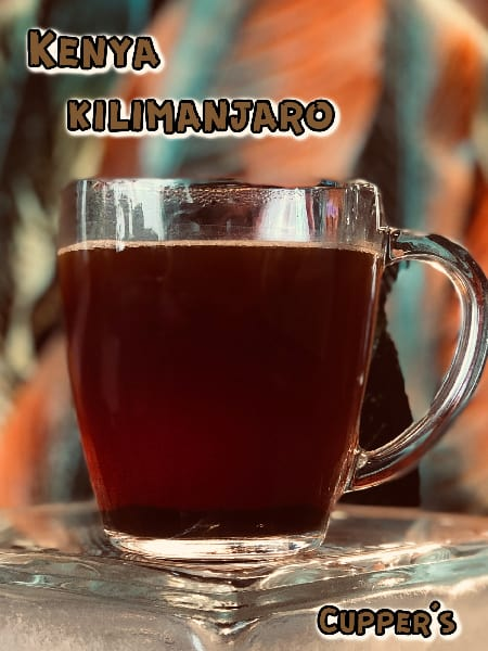 kenya medium roast coffee brewed