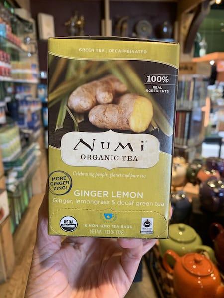 Numi Decaf Lemon Ginger Herbal Tea Bags