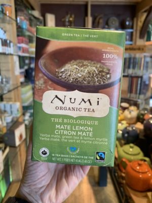 Numi Mate Lemon Green Tea, Bags