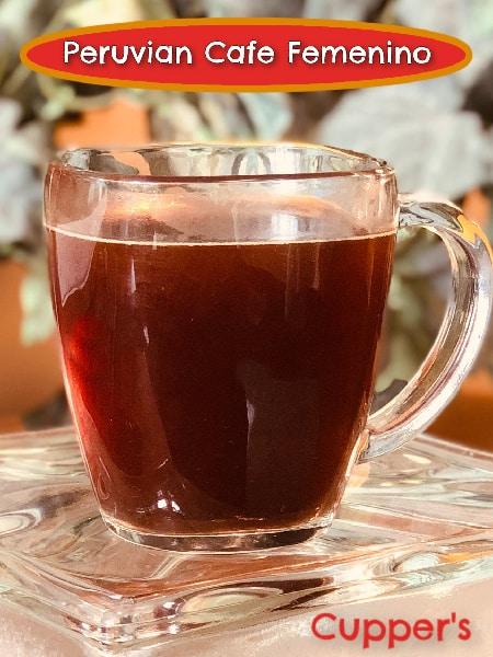 cafe femenino fair trade organic coffee brewed
