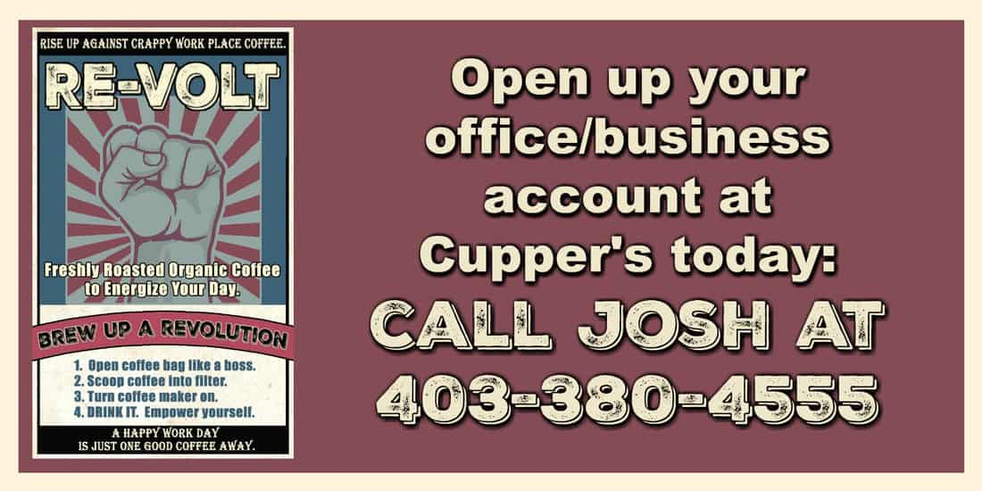 Open up your office/business account at Cupper's today.
