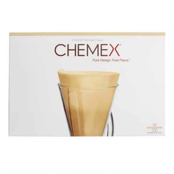 Chemex half-moon coffee filters unbleached for 3 cup pour-over