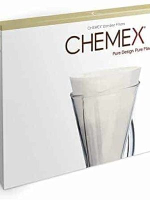 Chemex half-moon coffee filters white for 3 cup pour-over