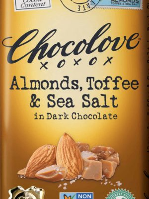 Chocolove Almonds, Toffee & Sea Salt in Dark Chocolate