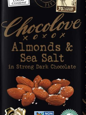 Chocolove Almonds & Sea Salt in Strong Dark Chocolate