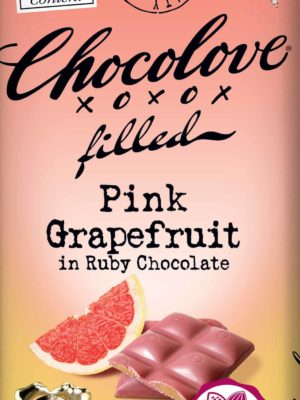 Chocolove Pink Grapefruit in Ruby Chocolate