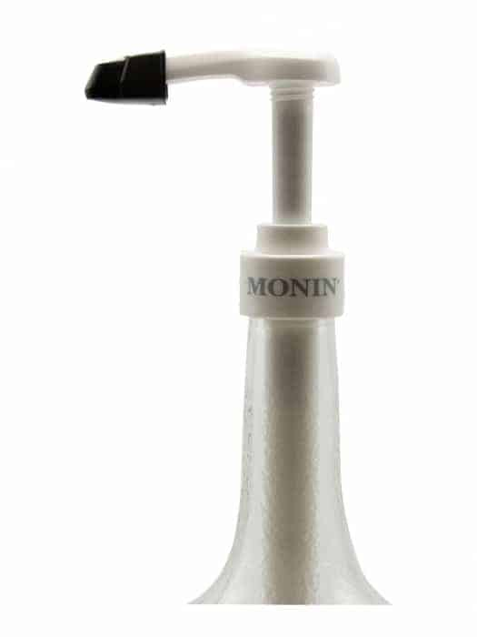 Monin 750 mL syrup pump on glass bottle