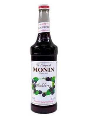 monin blackberry syrup in glass bottle