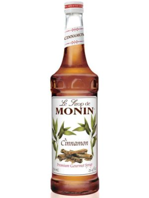 Monin Cinnamon syrup in glass bottle