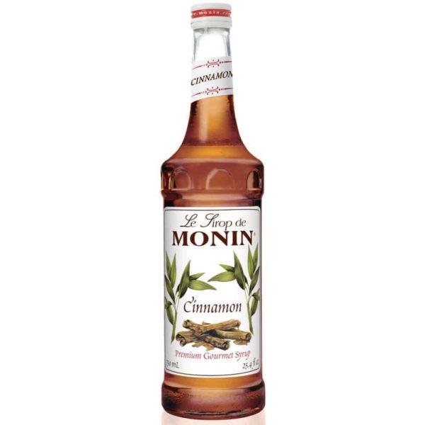 Monin Cinnamon syrup in glass bottle
