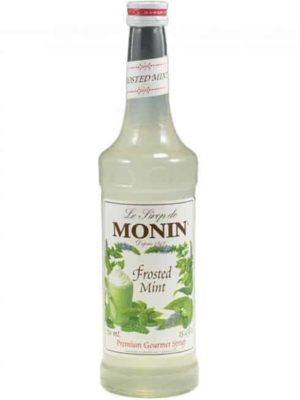Monin frosted mint in glass bottle