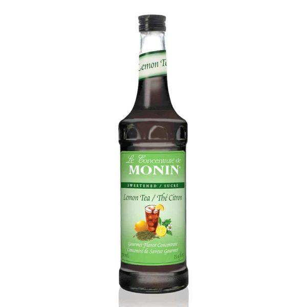 Monin Lemon Iced Tea Syrup in glass bottle