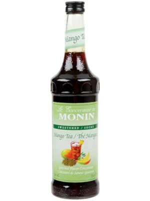 Monin Mango Tea Concentrate in glass bottle