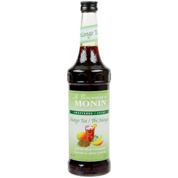 Monin Mango Tea Concentrate in glass bottle