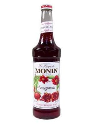 Monin Pomegranate syrup in glass bottle