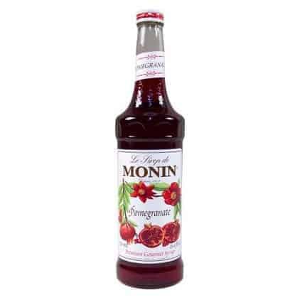 Monin Pomegranate syrup in glass bottle