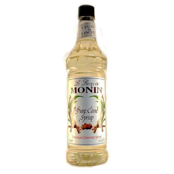 Monin Pure Cane Sugar Syrup in 1 litre plastic bottle