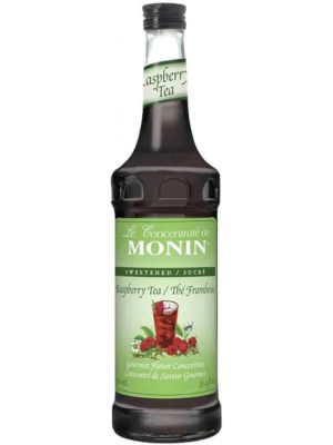Monin Raspberry Tea Concentrate in glass bottle