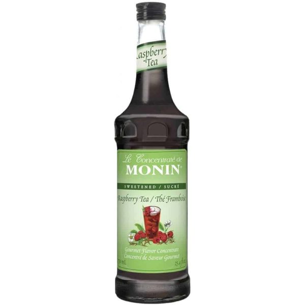 Monin Raspberry Tea Concentrate in glass bottle