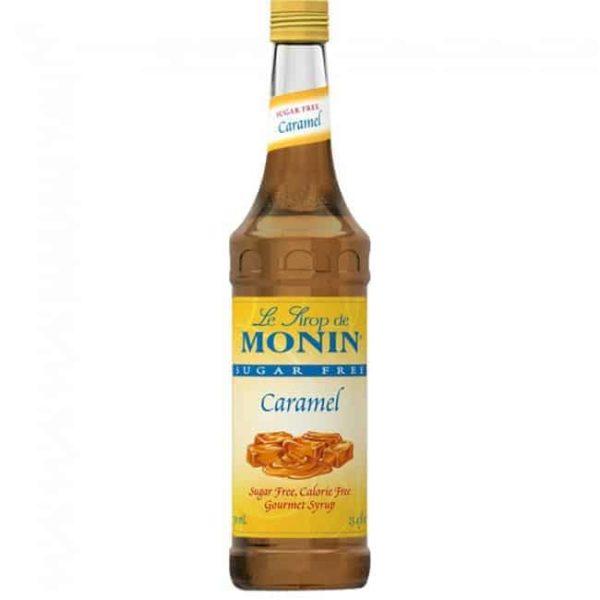 Monin sugar free syrup in glass bottle