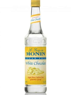 Monin Sugar free White Chocolate in glass bottle