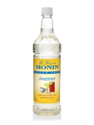 Monin Sugar Free Sweetener in 1 litre plastic bottle