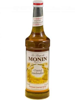 monin Toasted marshmallow syrup in glass bottle