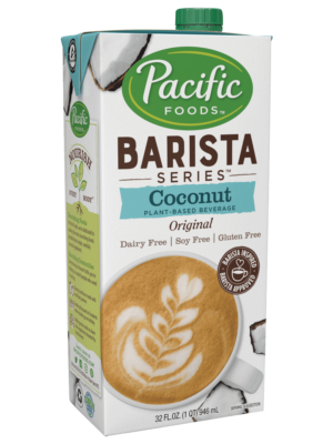 Pacific barista coconut milk alternate dairy free carton