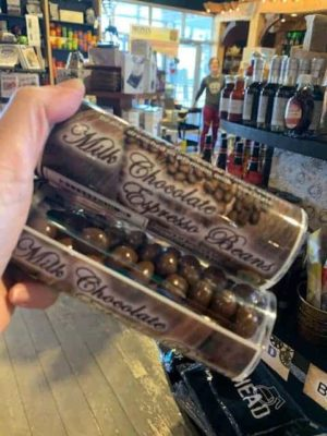 Milk Chocolate Covered Coffee Beans Tube