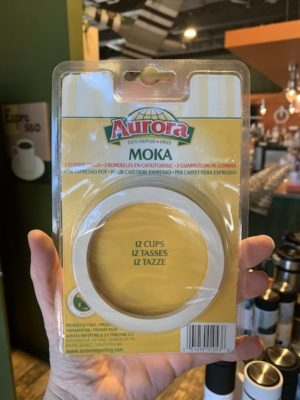 Bialetti Moka Stovetop Espresso Gaskets, 12 Cup