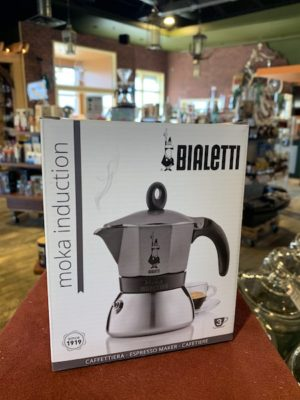Bialetti Moka Induction Stovetop Espresso Maker, 3 Cup