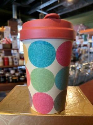 Chic Mic Bamboo Travel Cup Bright Circles