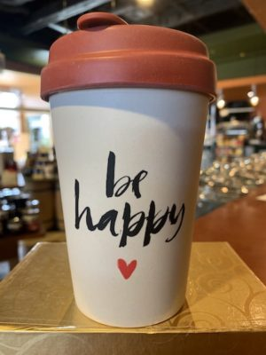 Chic Mic Bamboo Travel Cup - Be Happy