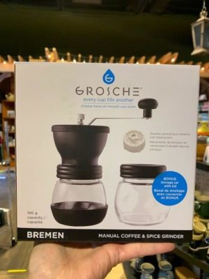 Grosche Bremen Hand Coffee Grinder Black