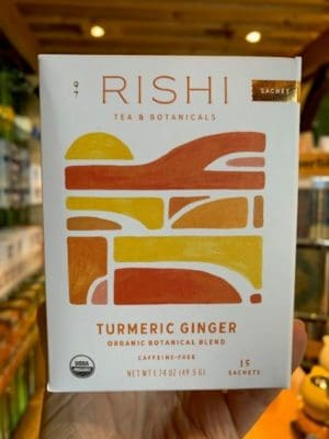 Rishi Turmeric Ginger Herbal Tea Bags
