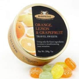 Simpkins Orange Lemon Grapefruit Travel Sweets Tin