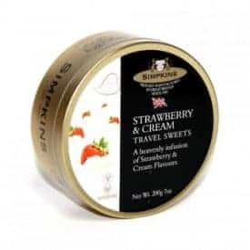 Simpkins Strawberries & Cream Travel Sweets Tin