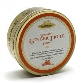 Simpkins Ginger Fruit Travel Sweets Tin