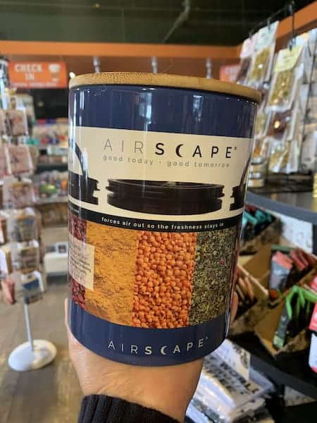 Airscape Canister 7 inch Ceramic Cobalt Blue