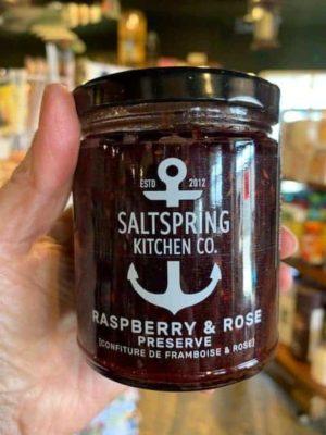 Saltspring Kitchen Raspberry Rose Preserves Jam Jar